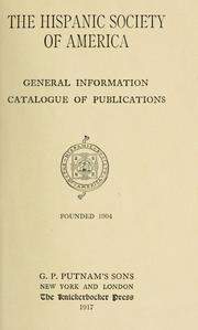 Cover of: General information by Hispanic Society of America.