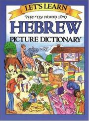 Cover of: Let's Learn Hebrew Picture Dictionary by Marlene Goodman