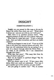 Cover of: Insight; a record of psychic experiences by Emma Crow Cushman