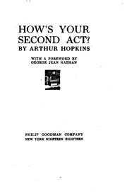 Cover of: How's your second act? | Arthur Hopkins