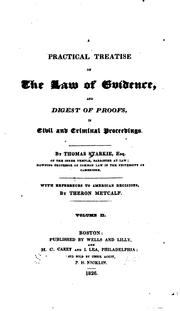 Cover of: A practical treatise on the law of evidence | Starkie, Thomas
