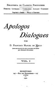 Cover of: Apologos dialogaes | Mello, Francisco Manuel de