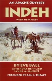 Cover of: Indeh, an Apache odyssey by Eve Ball