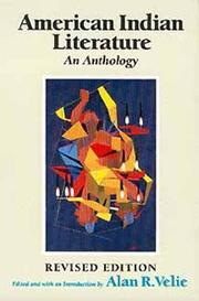 Cover of: American Indian Literature by Alan R. Velie