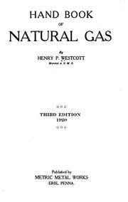 Cover of: Hand book of natural gas | Henry Palmer Westcott