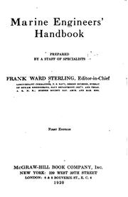 Cover of: Marine engineers' handbook by Frank W. Sterling
