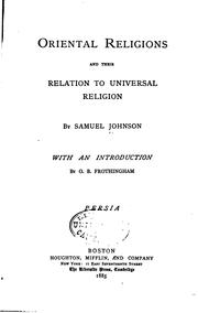 Cover of: Oriental religions and their relation to universal religion : India by Johnson, Samuel