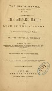 Cover of: The Musard ball | John Brougham