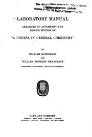 Cover of: Laboratory manual by McPherson, William
