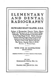 Cover of: Elementary and dental radiography | Raper, Howard