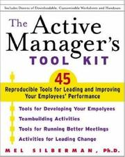 Cover of: The Active Manager's Tool Kit | Mel Silberman