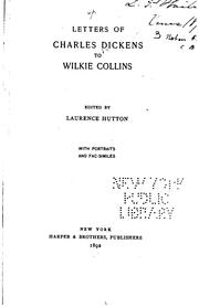Cover of: Letters of Charles Dickens to Wilkie Collins by Charles Dickens