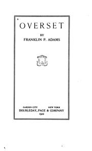 Cover of: Overset | Franklin P. Adams
