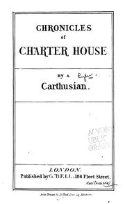 Cover of: Chronicles of Charter-house by William John Duff Roper
