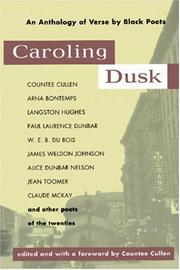 Cover of: Caroling Dusk | Countee Cullen