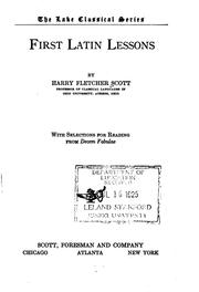 Cover of: First Latin lessons | Harry Fletcher Scott