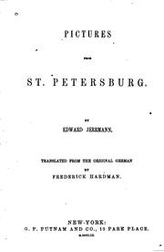 Cover of: Pictures from St. Petersburg by Eduard Jerrmann