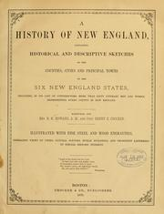 Cover of: A history of New England | R. H. Howard
