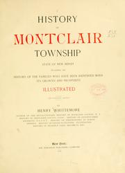 Cover of: History of Montclair township | Whittemore, Henry