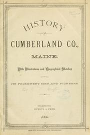 Cover of: History of Cumberland Co., Maine by W. W. Clayton
