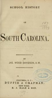 School history of South Carolina