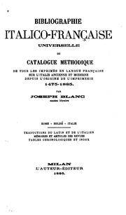 Cover of: Bibliographie italico-française universelle by Joseph Blanc