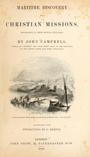 Cover of: Maritime discovery and Christian missions by Campbell, John