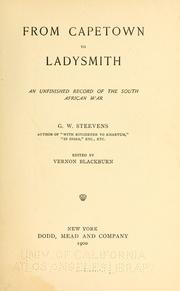 Cover of: From Capetown to Ladysmith | G. W. Steevens