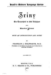 Cover of: Zriny | Körner, Theodor