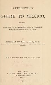 Cover of: Appletons' guide to Mexico | Conkling, Alfred Ronald