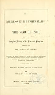 Cover of: The rebellion in the United States by Jennett Blakeslee Frost