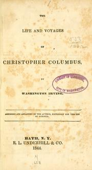 Cover of: The life and voyages of Christopher Columbus | Washington Irving