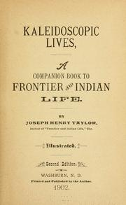 Cover of: Kaleidoscopic lives | Joseph Henry Taylor