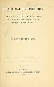 Cover of: Practical legislation | Thring, Henry Thring Baron