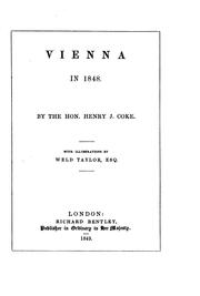 Cover of: Vienna in 1848 by Henry J. Coke
