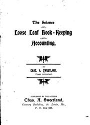 Cover of: The science of loose leaf book-keeping and accounting | Charles A. Sweetland