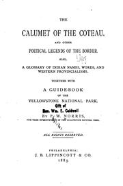 Cover of: The calumet of the coteau | Philetus W. Norris