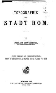 Cover of: Topographie der stadt Rom | Otto Ludwig Richter