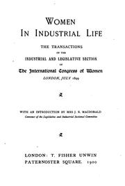 Cover of: [The  International congress of women of 1899 | International congress of women (1899 London)