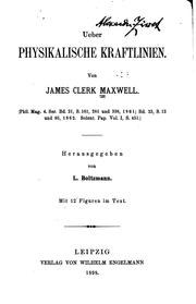 Cover of: Ueber physikalische kraftlinien | James Clerk Maxwell