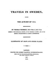 Cover of: Travels in Sweden | Thomson, Thomas