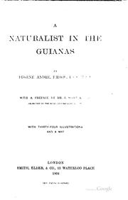Cover of: A naturalist in the Guianas | Eugene André