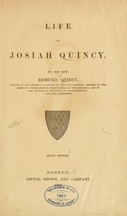 Cover of: Life of Josiah Quincy by Quincy, Edmund