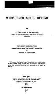 Cover of: Whosoever Shall Offend by Francis Marion Crawford