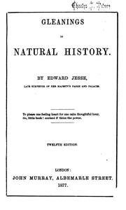 Cover of: Gleanings in natural history | Edward Jesse