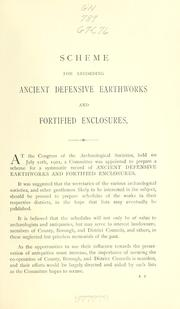 Cover of: Scheme for recording ancient defensive earthworks and fortified enclosures by Congress of Archaeological Societies in Union with the Society of Antiquaries of London.