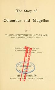 Cover of: The story of Columbus and Magellan | Thomas Bonaventure Lawler