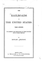 Cover of: The railroads of the United States | Atkinson, Edward