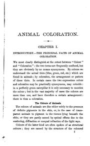 Cover of: Animal coloration | Frank E. Beddard