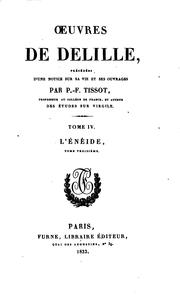 Cover of: Œuvres de J. Delille by Jacques Delille